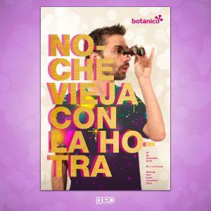 Diseño cartelería Nochevieja para Restaurante Botánico Café Granada